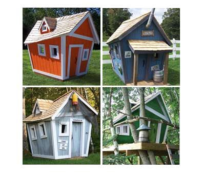 Crooked Playhouse Diy Woodworking Projects Plans