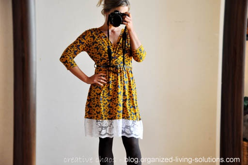 organized living solutions: Dress re-fashion