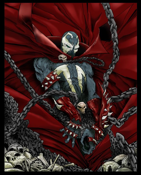 Spawn Comic Rendering By JIMABRIL