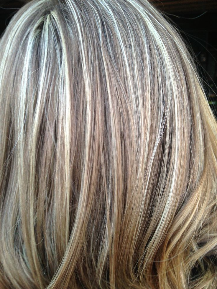 Light Brown Base With Blonde Highlights Hair In 2019