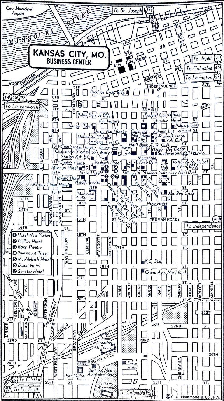 Kansas City Missouri MO Map