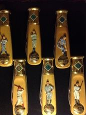 Baseball H.O.F. Franklin Mint collector knife set @ tradewindscollectibles.com