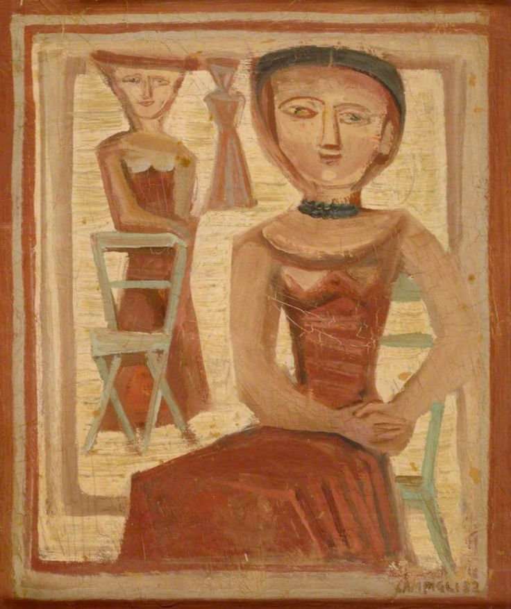 Three Figures by Massimo Campigli (Italian 1895 - 1971)