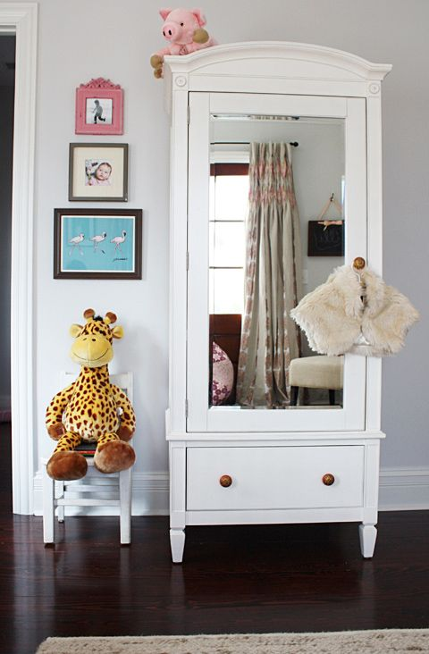 instead of just a mirrorChild Room, Ideas, For Kids, Mirrors Armoires, Kids Room, Girls Room, Baby Room, Stuffed Animal, Closets Spaces