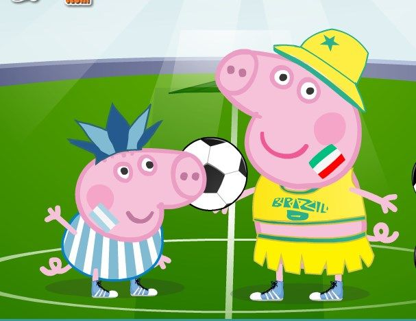 Play Peppa Pig World Cup Dress Up