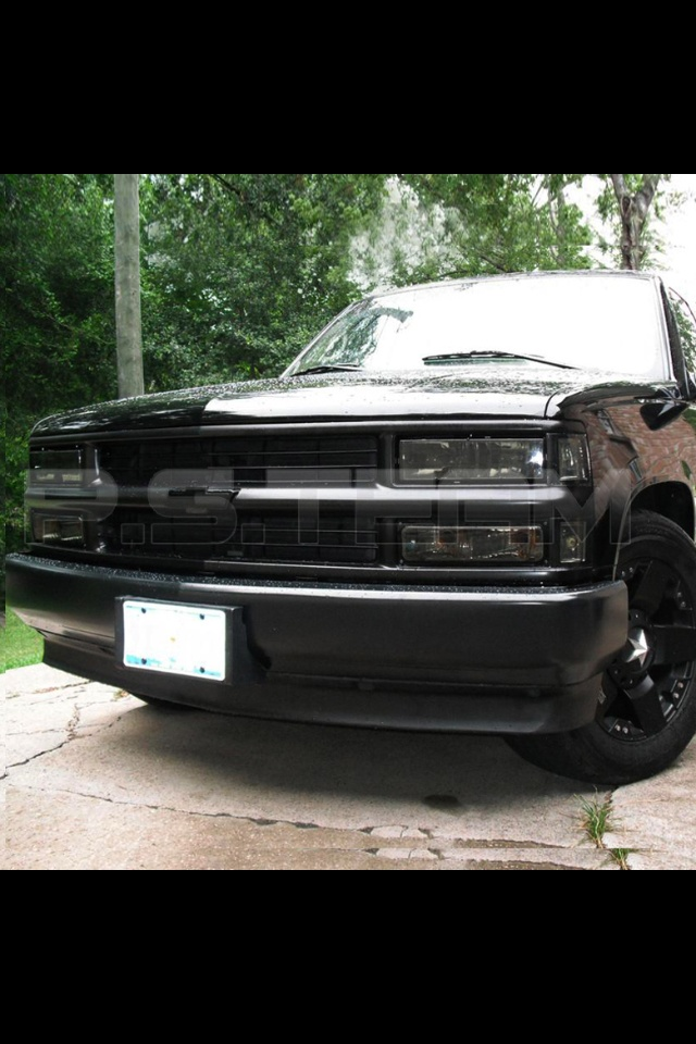 1998 Chevy Tahoe Murdered Out Front End My Rides Of