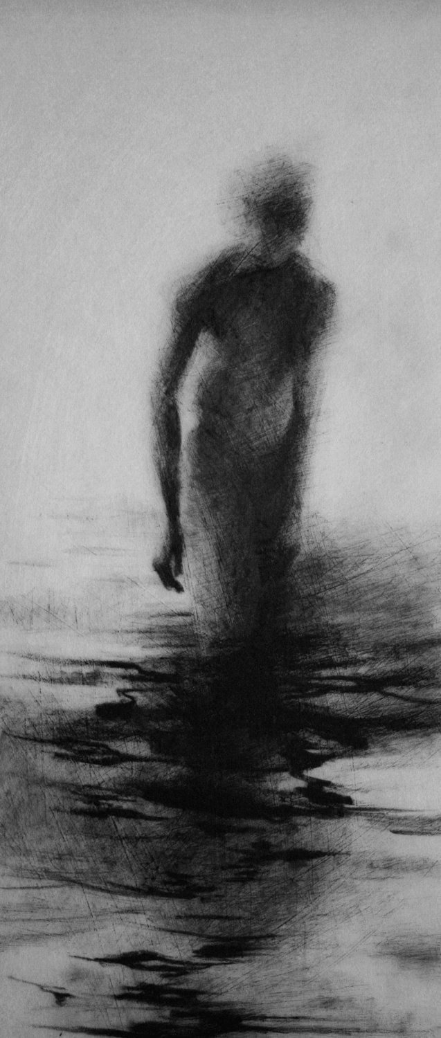 Haunting Figure Drawing. $150.00