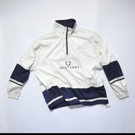 92d337a1 Vintage FRED PERRY Pull Over // Fred Perry Half Zip // 90s Fashion Outfits  // Retro Streetwear // Windbreaker // Oldschool // men // women // unisex  // Rare ...
