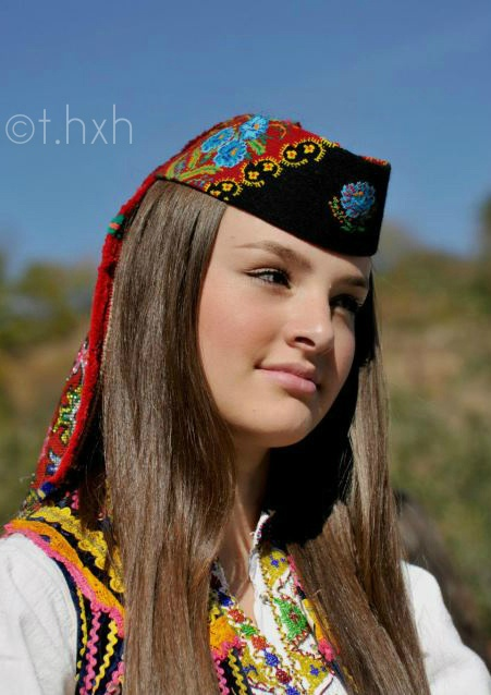 """Hasjanja """"Beauty on Beauty""""    #Girl from the region of Has (Prizren/Kosovo) wearing traditional clothes."""