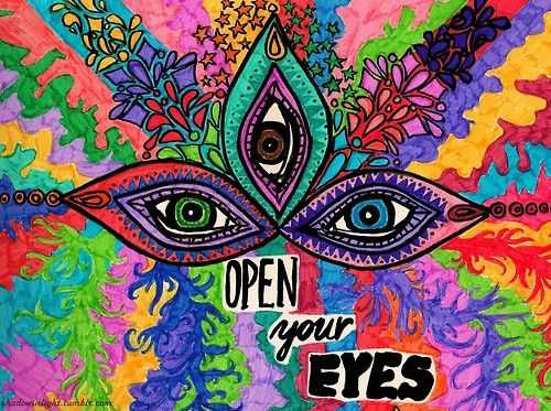 Abstract Eye Art | drawing art mine eyes psychedelic colourful Abstract third eye ...