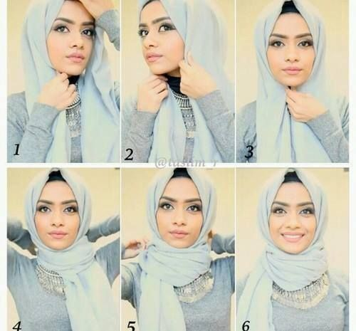 This hijab style is for every collar necklaces addict, I love this kind of…