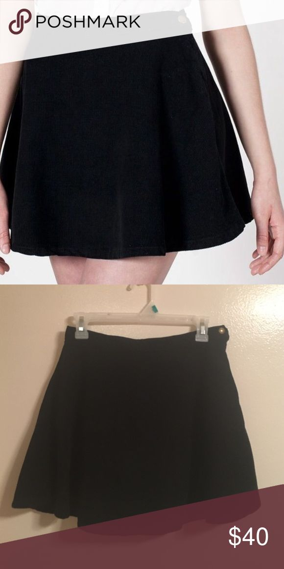Corduroy Skater Skirt American Apparel black high waisted skater skirt. American Apparel Skirts Circle & Skater