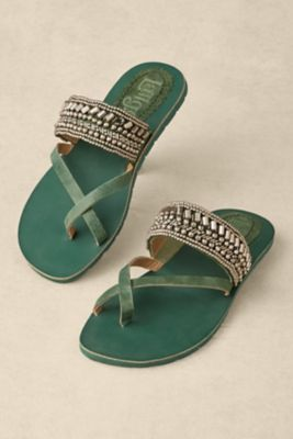 Kuta Sandals from Soft Surroundings but in the camel color not green