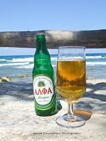 Greek beer, yes please.