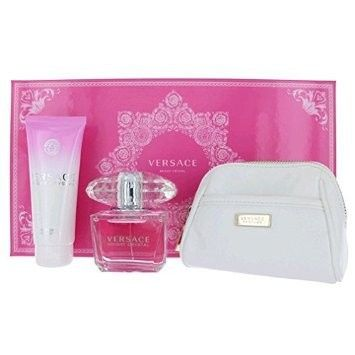 Versace 3pc Bright Crystal Gift Set 90ml EDT+BL+Bag (W)