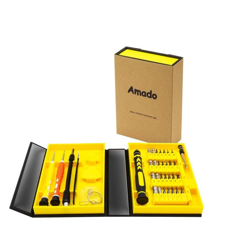 Precision Screwdriver Set, Amado 38 Piece Repair Tool Kit for Mobile, Computer A #Case