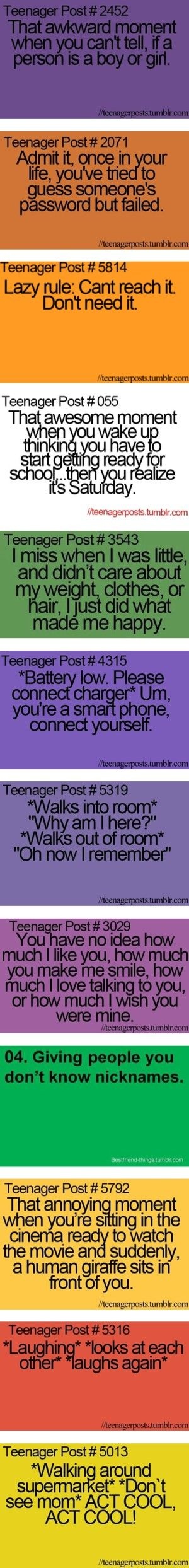 """Funny Teenager Post"" And my friend and I made up nicknames for like everybody. we dont know who's name is who's"