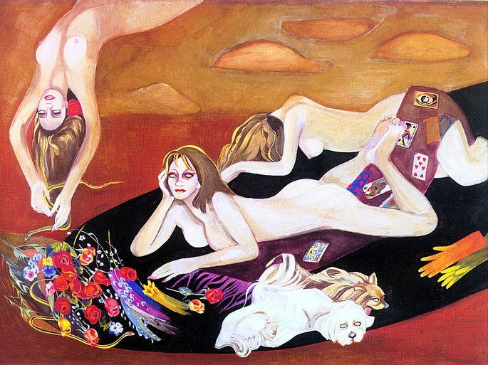 (Korea) by Chun Kyung-ja (1924- 2015). Oil on canvas. 천경자. 황혼의 통곡.