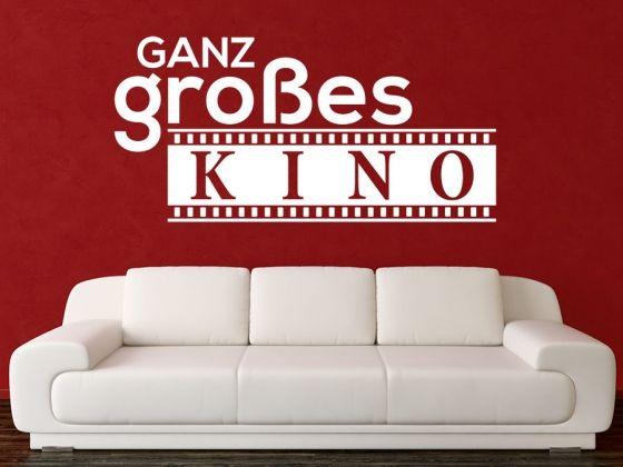 Lovely Film Wandtattoo Ganz gro es Kino Kino Film