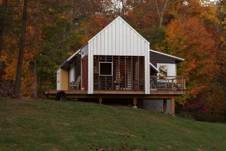 Architect Chad Everhart's farmhouse renovation near Boone, North Carolina.