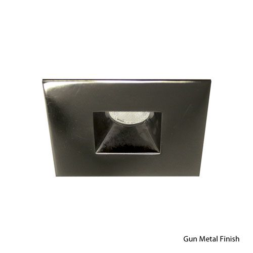 LED Gun Metal 2-Inch Recessed Downlights with Open Reflector Square Trim