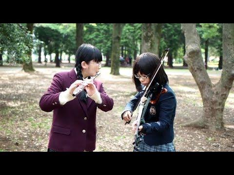 ◆脳漿炸裂ガール◆ フルートとヴァイオリンで演奏してみた/Noushou sakuretsu girl flute&violin VOCALOID