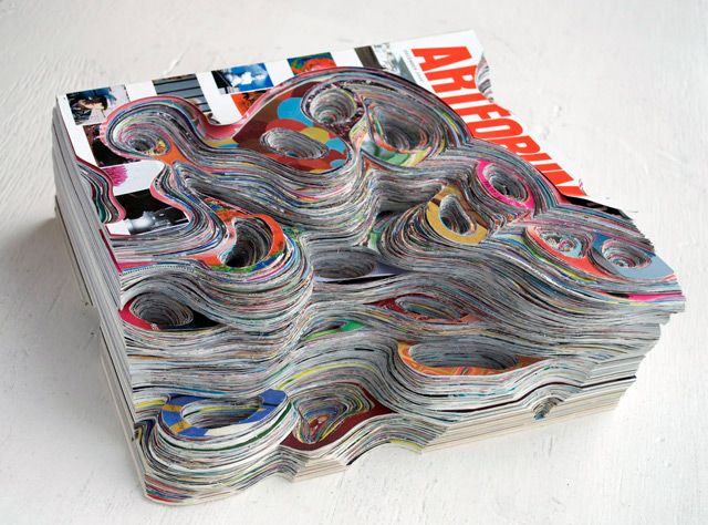 *Cut Paper Sculptures Made out of Artforum Magazine - http://laughingsquid.com/cut-paper-sculptures-made-out-of-artforum-magazine/