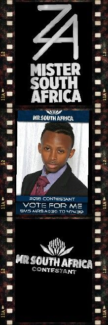 To vote for Unathi Sifici, sms MRSA030 to 47439