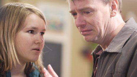 Melissa Suffield with Adam Woodyatt in EastEnders