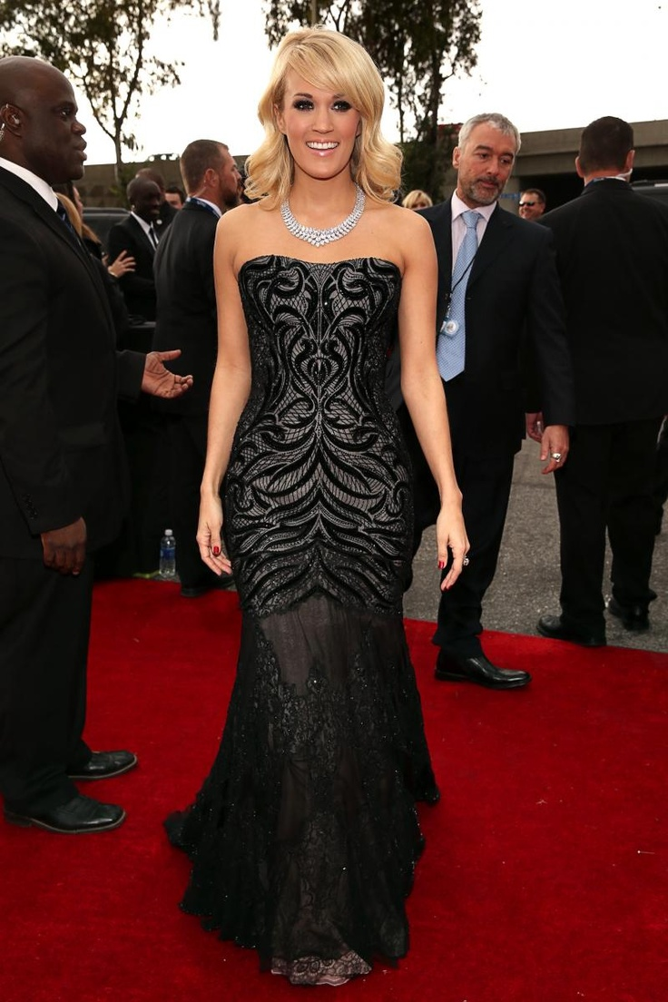 Carrie Underwood in Roberto Cavalli at the 55th Annual Grammy Awards
