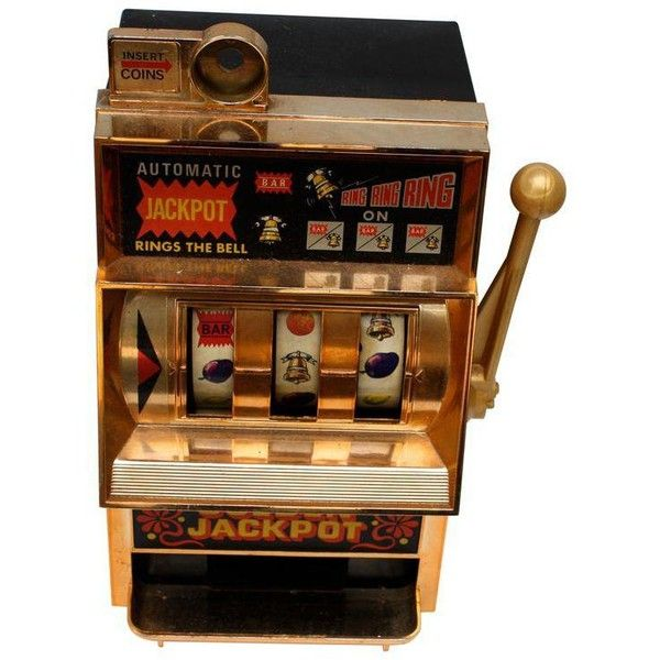 Mid-Century Vintage Slot Machine ($78) ❤ liked on Polyvore featuring games & game boards