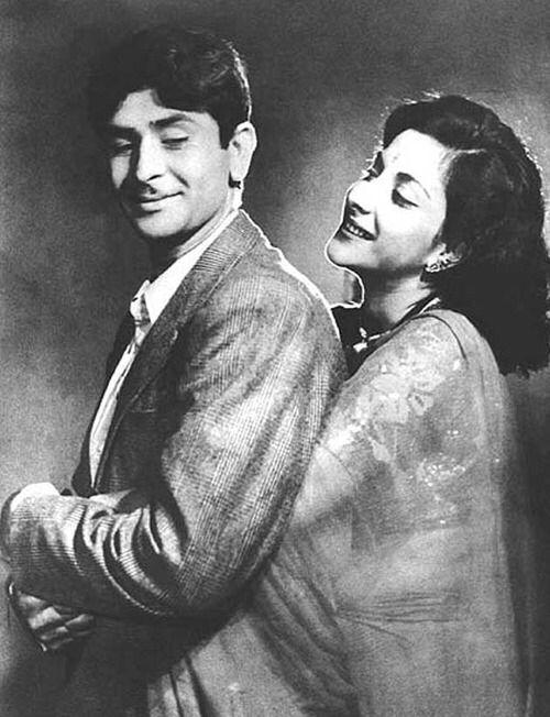Raj Kapoor and Nargis. Super cute.