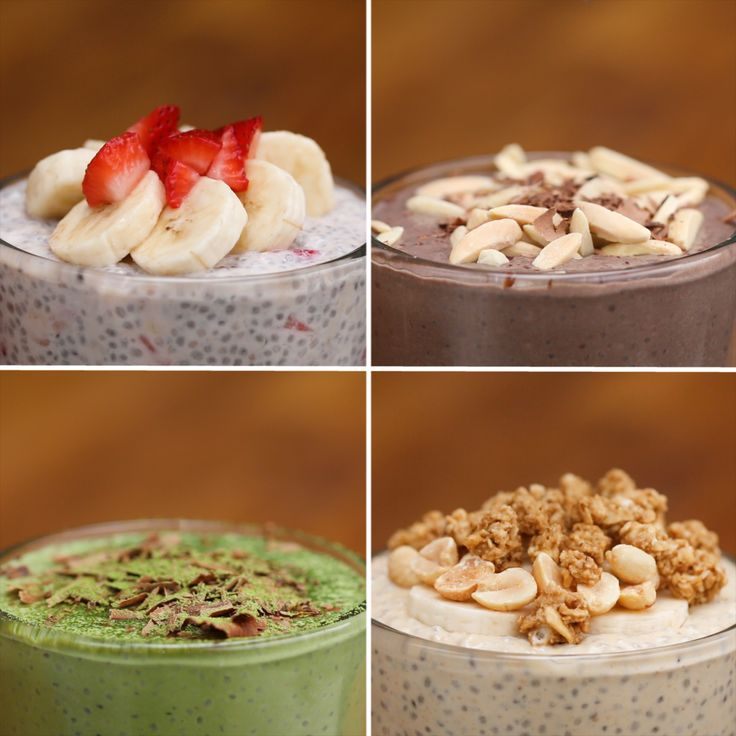 Chia Seed Pudding 4 Ways