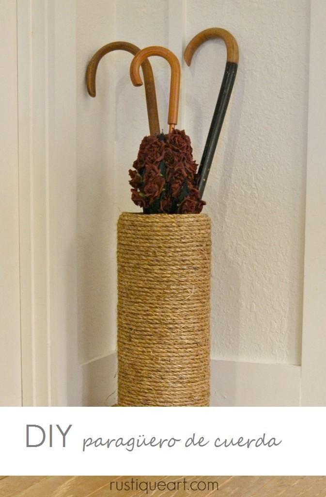 DIY Un paragüero con cuerda   Decorar tu casa es facilisimo.com