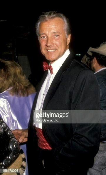 Lyle Waggoner at an event, 1990. Another celebrity who looks dashing in a tuxedo.