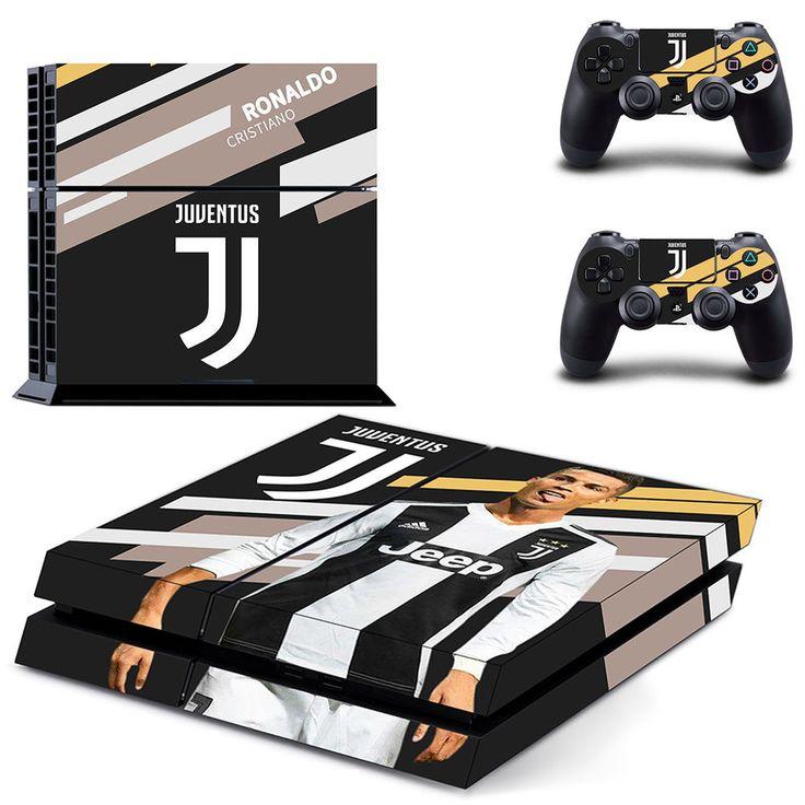 Sticker Ronaldo Juventus CR7 Soccer Star New Cover For PS4