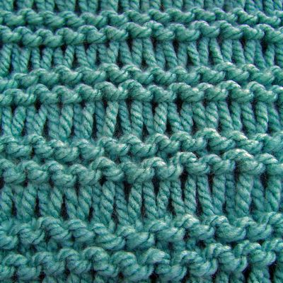 Knitting Extra Stitch Each Row : Long stitches Rows 1 and 2 - Knit Row 3 - Knit into each stitch but wrap the ...