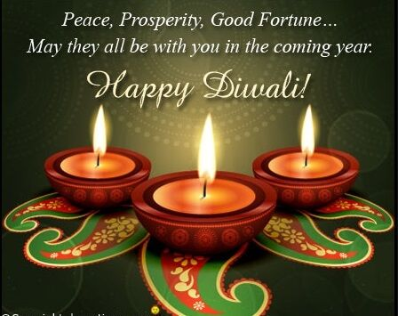 Diwali Greetings: Diwali / Devali / Deepavali could be a festival celebrated in India by decorating their homes with clay diyas and stunning rangolis in front of the house.