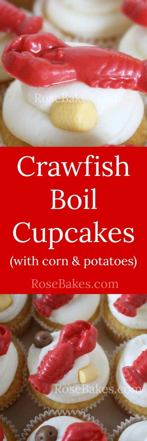 How to Make Cute Crab Cupcake Toppers