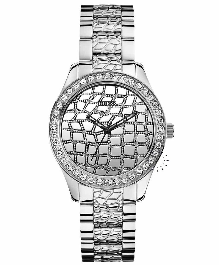 GUESS Crystal Ladies Stainless Steel Bracelet Η τιμή μας: 169€ http://www.oroloi.gr/product_info.php?products_id=35136