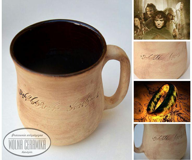 """""""Tolkien"""" mug.  www.wolnaceramika.pl"""