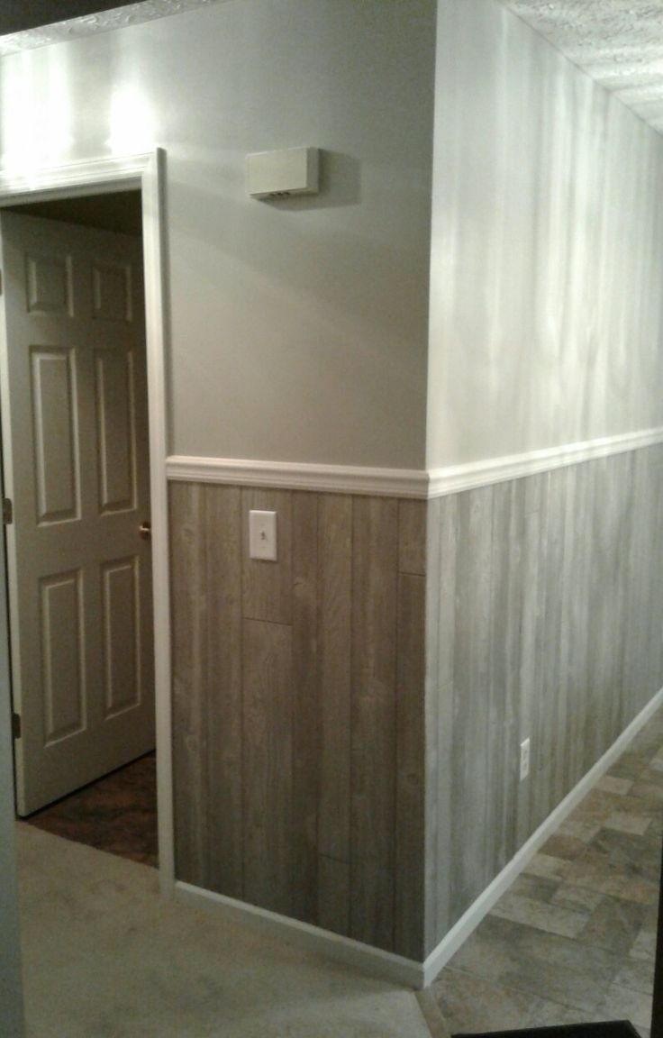 Wood Panel For Half Wall In 2019 Wood Paneling Makeover