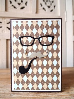 Movember is coming - veronicard#Movember #veronicard #handmade #greetingcard #cardmaking #papercraft #sizzixbigshot #tophat #beard #mustache  #pipe #grandpa Birthday cards for men