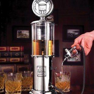 A gas pump liquor dispenser.