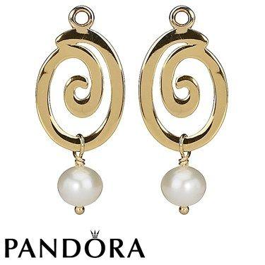 Pandora Pearl Swirl 14K Gold Charm 80122