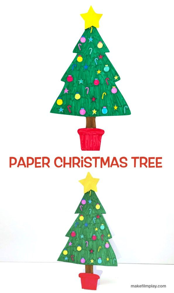 Paper Christmas Tree Make Film Play Colour In This Christmas Tree For Your Next Super Easy Christmas Craft Project Download The Free Template And Watch The