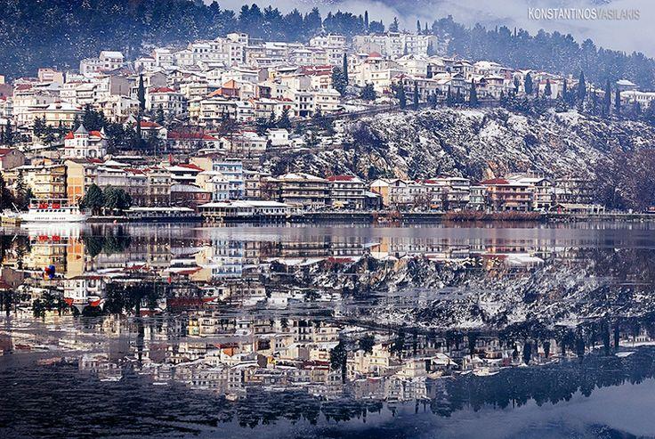 Kastoria. Macedonia, Greece Twin city by KirlianCamera