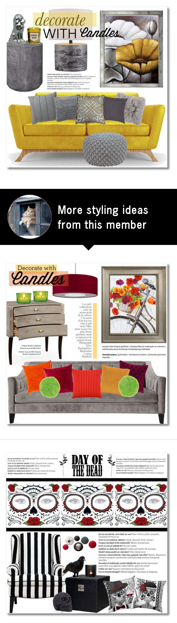 Home decor collage from january 2017 featuring currey company -  Decorate With Candles By Chloe On Polyvore Featuring Interior Interiors Interior Design