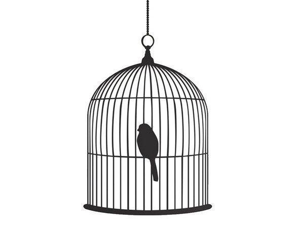 Open Birdcage Silhouette Bird cage silho...