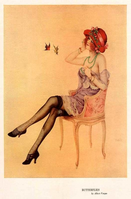 Vargas, Butterflies, 1922 on Flickr.  Click image for 526 x 800 size.
